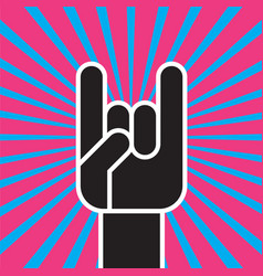 sign of the horns hand gesture vector image