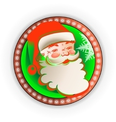 Silhouette in the round frame Santa Claus vector