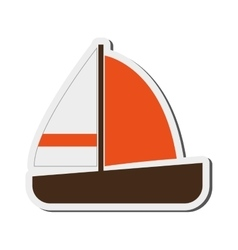 single sailboat icon vector image