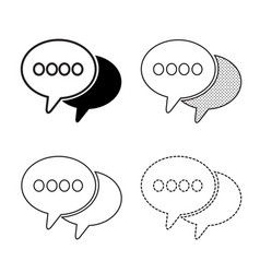 speech bubbles icon vector image