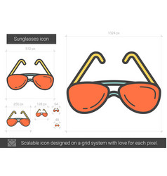 Sunglasses line icon vector