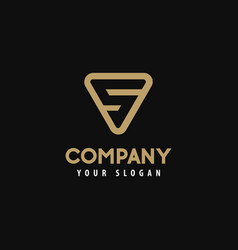 template logo letter s golden logo vector image