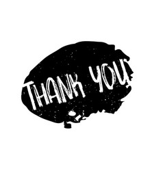 Thank you rubber stamp vector