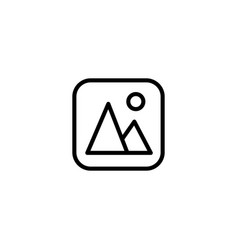 Thin line gallery picture icon vector