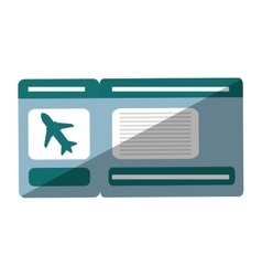 ticket airplane travel shadow vector image