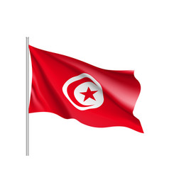 tunisia realistic flag vector image