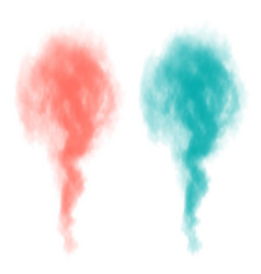 turquoise and coral smoke bomb isolated on vector image
