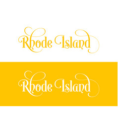 typography of the usa rhode island states vector image