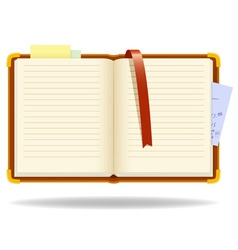 Vector notepad organizer with bookmark vector