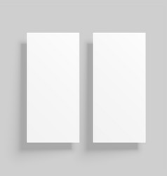 Vertical card mockup with shadows vector