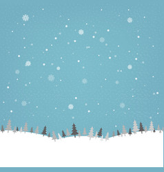 Vintage winter poster vector