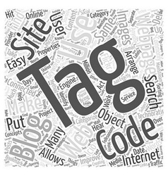 Web Codes For Blogs Word Cloud Concept vector image