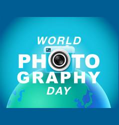 world photography day eventa banner logo vector image