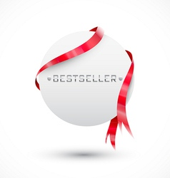 Blank sale tag Circle paper vector image vector image