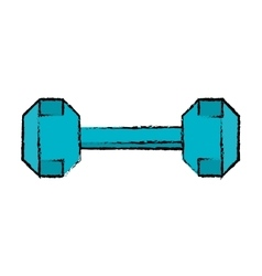 drawing dumbbell weight fitness gym icon vector image vector image