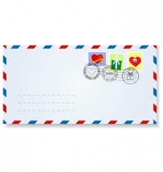 Envelope with stamps vector image vector image
