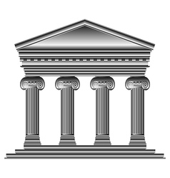 Ionic temple vector image