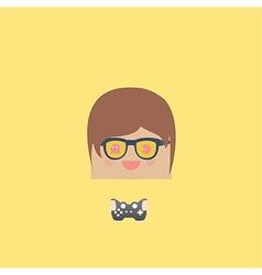 cartoon doodle man rectangle play games vector image