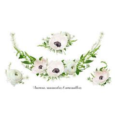 Flower bouquet floral wreath design object vector