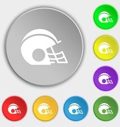 football helmet icon sign Symbol on eight flat vector image vector image