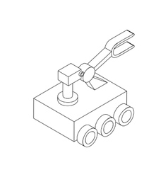 Mars exploration rover icon isometric 3d style vector image