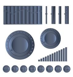 Multimedia set vector image
