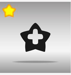 star cross medicine black icon button logo symbol vector image vector image