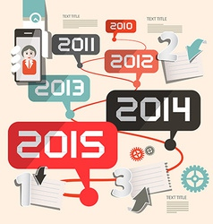 Timeline Infographics Layout vector image
