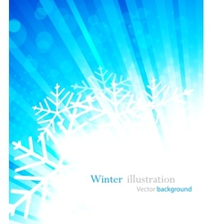 bright winter background vector image vector image