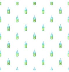 Eye drops bottle pattern cartoon style vector image