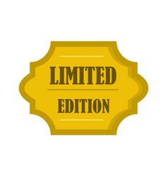 golden limited edition label icon flat style vector image