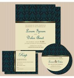 invitation cards set vector image