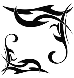 Tribal element on a white background vector image vector image