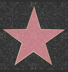 walk of fame star vector image