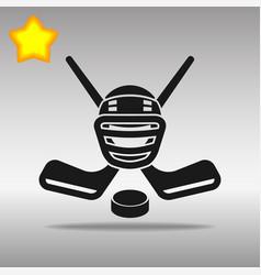hockey black icon button logo symbol vector image