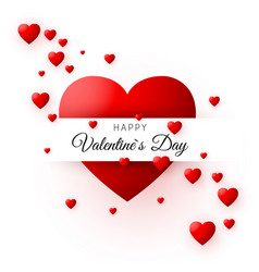 red heart - symbol of love valentines day card or vector image vector image