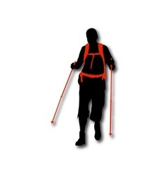 Silhouette of hiker vector