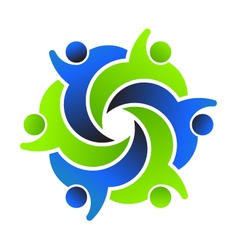 Social Friends 6 Logo design vector image