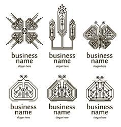 virtual logo vector image