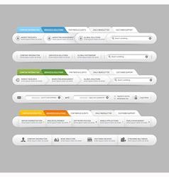 Web site design menu navigation vector image vector image