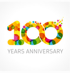 100 years anniversary infinity color logo vector