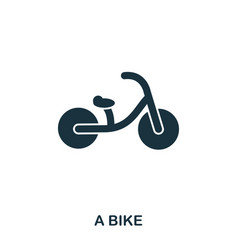 a bike icon mobile apps printing and more usage vector image