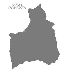 arica y parinacota chile map grey vector image