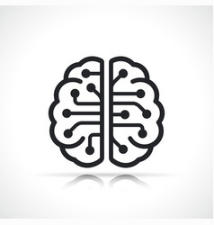 artificial intellingence brain icon isolated vector image