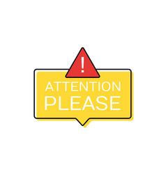 attention please concept of important announcement vector image