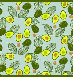 Avocado green on pastel mint seamless vector