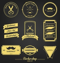 Barbershop Vintage Label vector