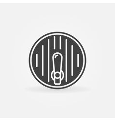 Beer barrel icon vector
