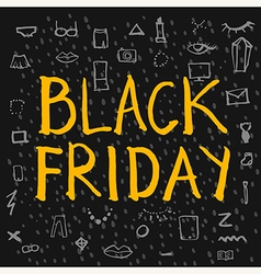 Black Friday lettering colour vector image
