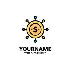 Business economics global modern logo vector